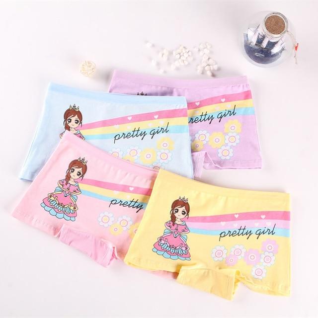 Mädchen Höschen 4 Stück Baumwolle mit Cartoon Druck Mädchen Unterhose Kinder Slip 2-12 Jahre 6