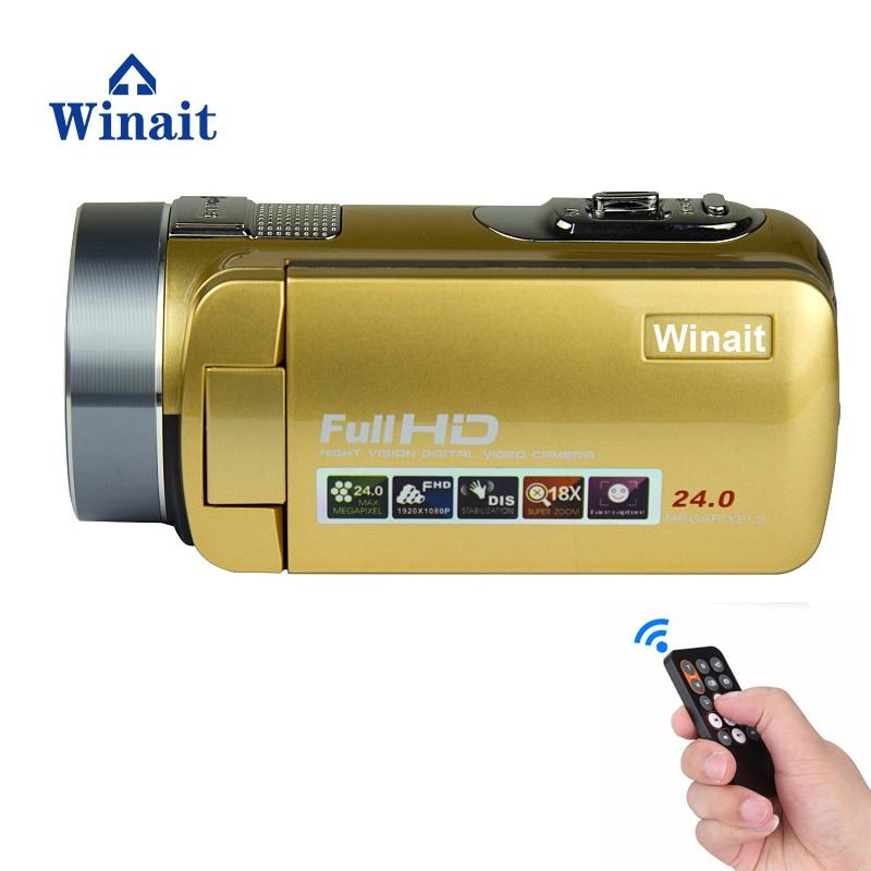 "Winait Full Hd Night Vision Digital Video Camera/16x Digital Camcorder With 3.0"" TFT Display/16x Digital Zoom Camera"