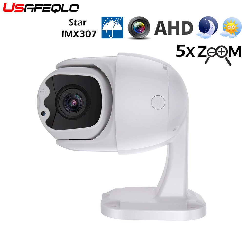 CCTV AHD 1080P PTZ Dome Camera Pan Tilt 2.7 ~ 13.5 Mm Lensa 5X Zoom IR 30M IP66 Tahan Air Vandalproof Coaxial RS485