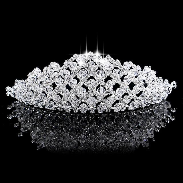 2016 nova moda de luxo elegante jóias Hairwear para coroa de cabelo acessórios de cabelo Headbands Tiaras de noiva