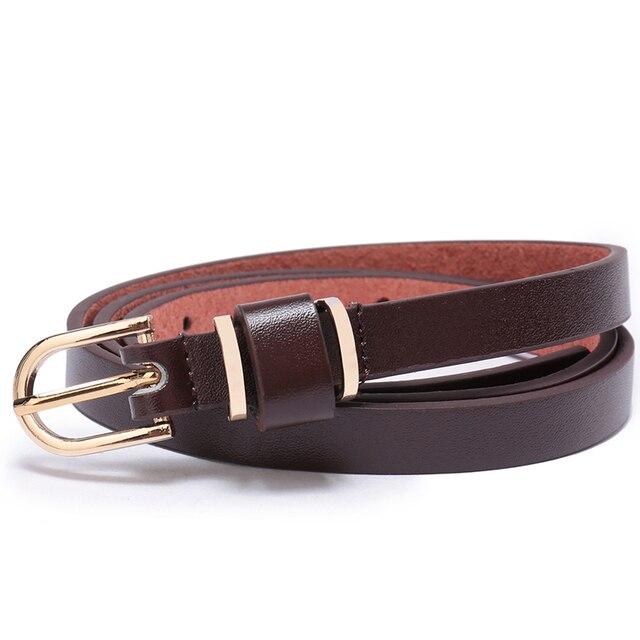 Women's Skinny Leather Belt Solid Color Waist or Hips Ornament 10 Sizes 1.5cm Wide Leopard Waistband Cummerbund Ladies and Girls 4