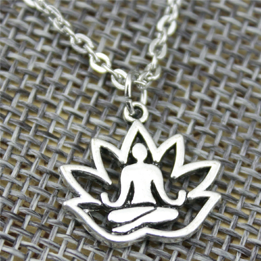 Lotus Buddha Chain Necklace 2