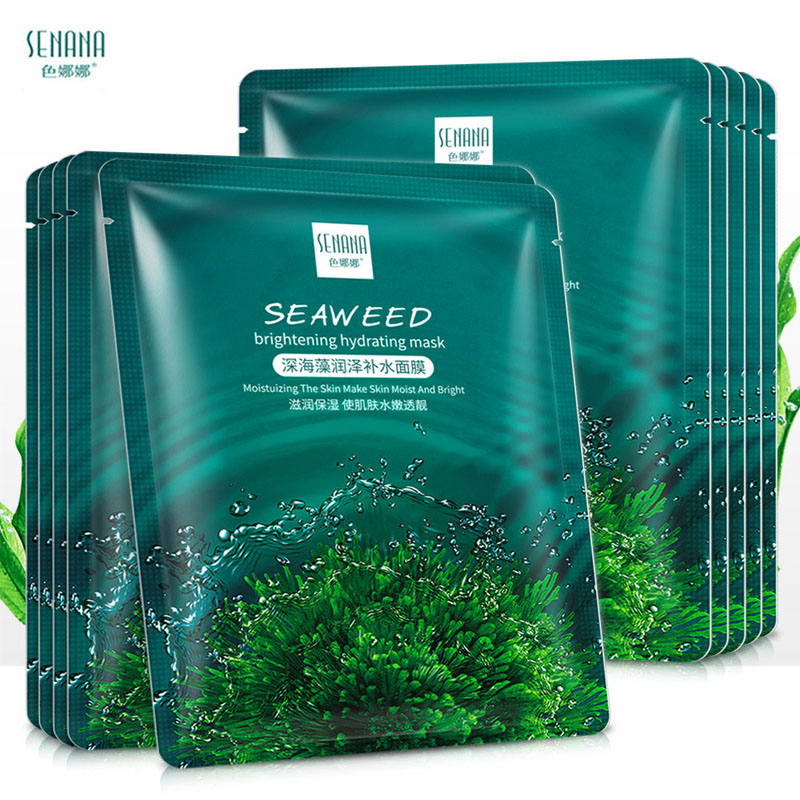 Seaweed Brightening Hydrating Skin Care Oil Control Mask  Whitening Shrink Pore Anti Aging Anti Wrinkle Moistuizing Facial Mask