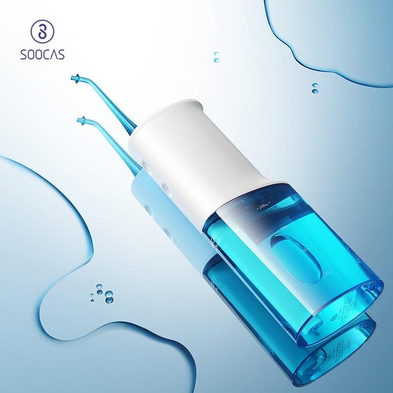SOOCAS W3 portátil irrigador oral USB recargable agua hilo dental 2200 mAh irrigador para la limpieza de los dientes de chorro de agua palillo de dientes