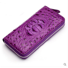 hlt Thai crocodile skin women Purse girl genuine leather real crocodile leather long style bag multi – card 2017 new women purse