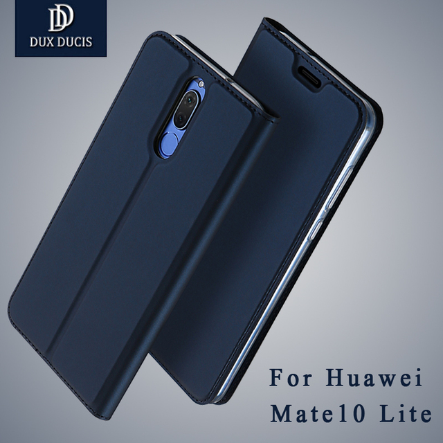 best service 845f7 f2887 huawei mate 10 lite case Dux Ducis Brand Wallet Leather cover huawei mate  10 Flip Leather case For huawei mate10 lite cases 5.9