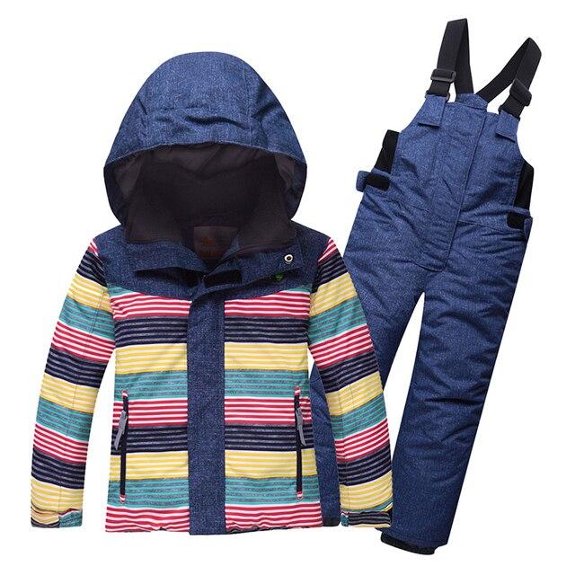 2e298e1b5 2019 New Kids Ski Suit Snowsuit Winter Children Boys Girls Ski Sets ...