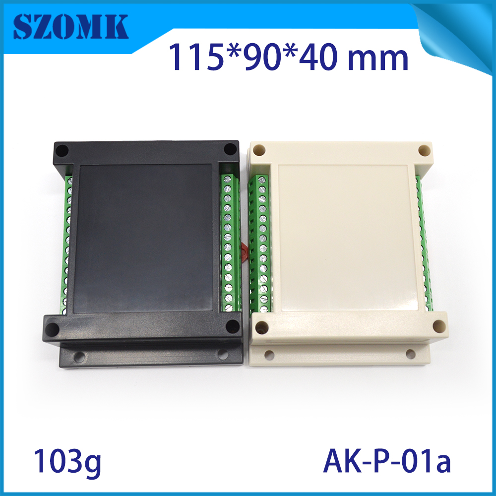 1 piece free shipping plastic case din rail enclosures for electronics abs housing din box cutting with 2 pieces terminal Blocks iron maiden iron maiden rock in rio 3 lp 180 gr