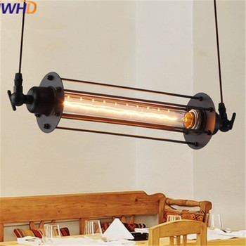 IWHD Loft Vintage Iron Pendant Light Fixtures Creative Persolity Industrial Lamp Edison Bulb Light Fixtures Home Lighting image