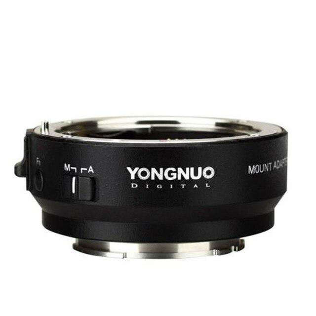 وصلة محول ذكية من YONGNUO YN EF E II لعدسة Canon EF EOS لكاميرا Sony NEX E Mount A9 A7 II A7RIII A7SII A6500