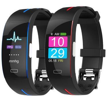 P3 Bracelet intelligent ECG + PPG montre de fréquence cardiaque de pression artérielle Bracelet intelligent Tracker de Fitness Smartband PK mi bande 3 PK honour band 4