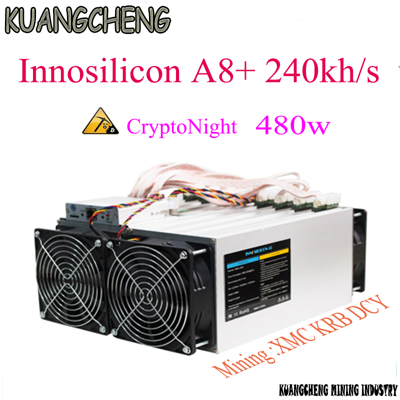 Innosilicon CryptoMaster A8+ 240kh/s CryptoNight Miner A8 Plus 240K 480W ASIC Mining Machine