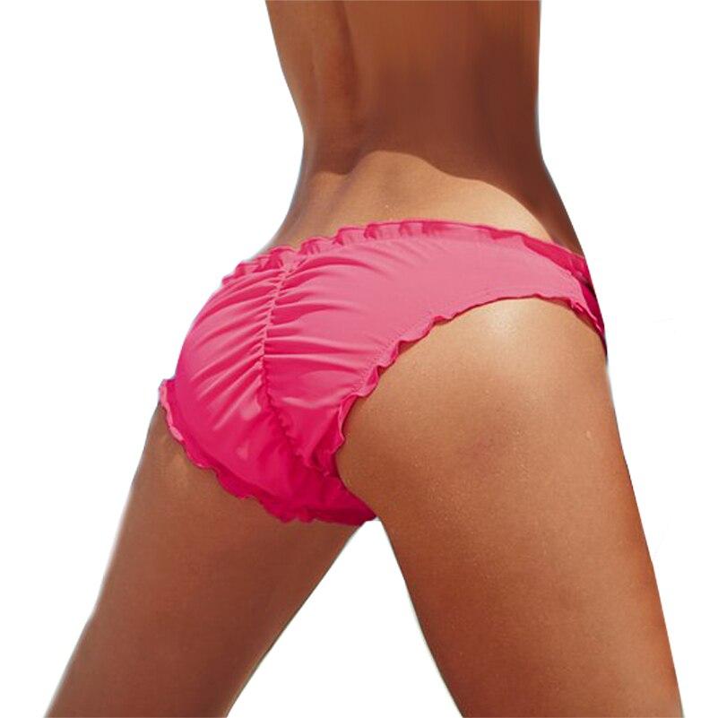 a29161163066 Traje de baño Bikini fondos arco brasileño Cheeky Bottom Swimsuit Biquini  Bikinis diseño Original secreto pantalones de natación