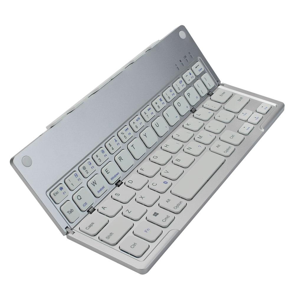 Ultrafino plegable Bluetooth teclado inalámbrico portátil plegable teclado batería de litio recargable para iPad Tablet - 5