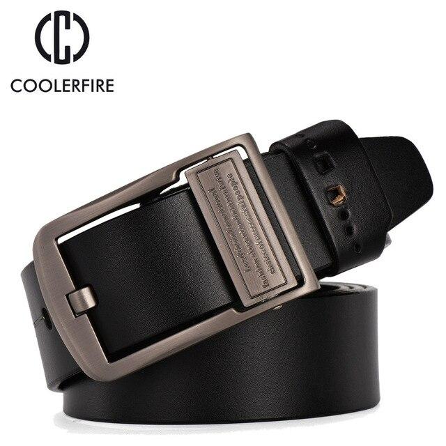 2017 men genuine leather luxury strap male belts for men buckle fancy vintage jeans cintos masculinos ceinture homme HQ018