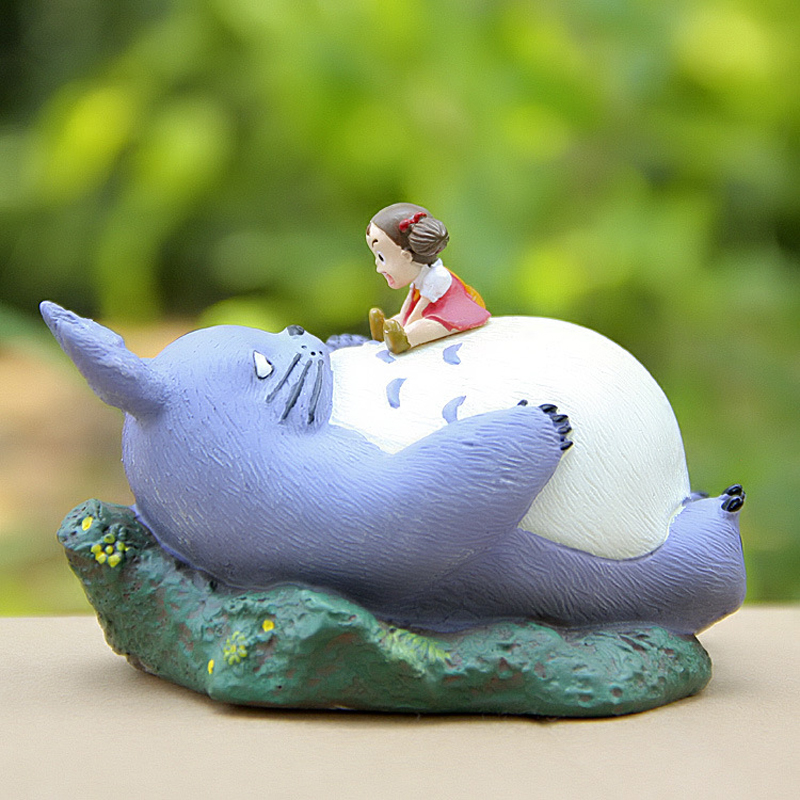 Studio Ghibli My Neighbor Totoro Figures DIY Totoro Sleeping Mei/May Resin Action Figure Collection Model Toy for Kids Toys Gift 12pcs set children kids toys gift mini figures toys little pet animal cat dog lps action figures