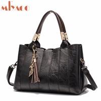 MIYACO Vintage Women Handbag Luxury Female Shoulder Bag Messenger Bag Totes Leather Top HandBags with tassel fox Hand Bag