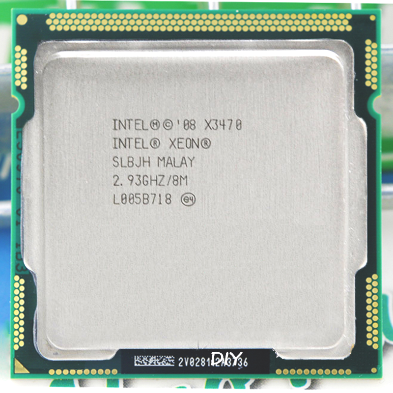 Intel Core Xeon X3470 8M Cache 2,93 GHz camiseta con frecuencia 3,6 LGA 1156 P55 H55 igual i7 870