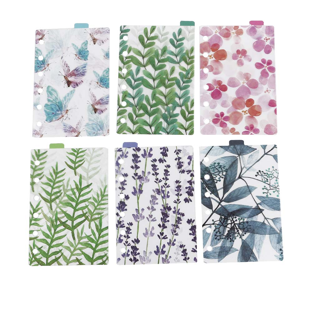 Memo Pads Nice 6pcs/set A5/a6/a7 Planner 6 Holes Color Index Of Notebook Pages Paging Separators School Stationery Working Stationery Supplies Profit Small Notebooks & Writing Pads