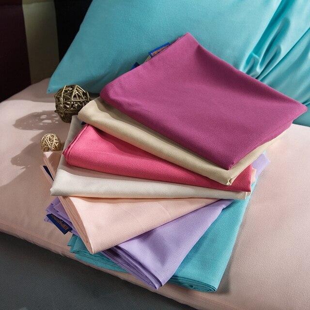 1 cái Giường Màu Rắn Vỏ Gối Gối Trường Hợp Tiêu Chuẩn Gối Bìa Bộ Đồ Giường Phòng Ngủ 17 Màu Sắc 47*74 cm Kekegentleman