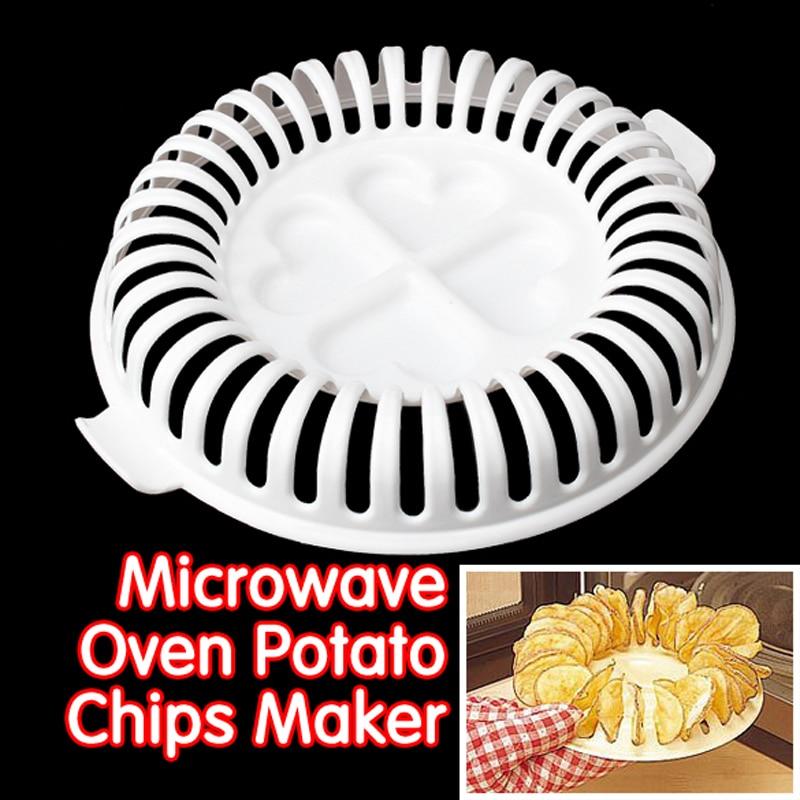 Microwave Potato Chip Maker Chips Rack Tray DIY Baking Pan Oven Potato Mud Pressure Machine Snacks Maker Kitchen Gadget microwave oven baked potato bag