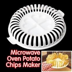 Микроволновая печь Potato Chip чайник чипсы Стойку Лоток DIY печи противень картофеля грязи Давление машины закуски чайник Кухня гаджет