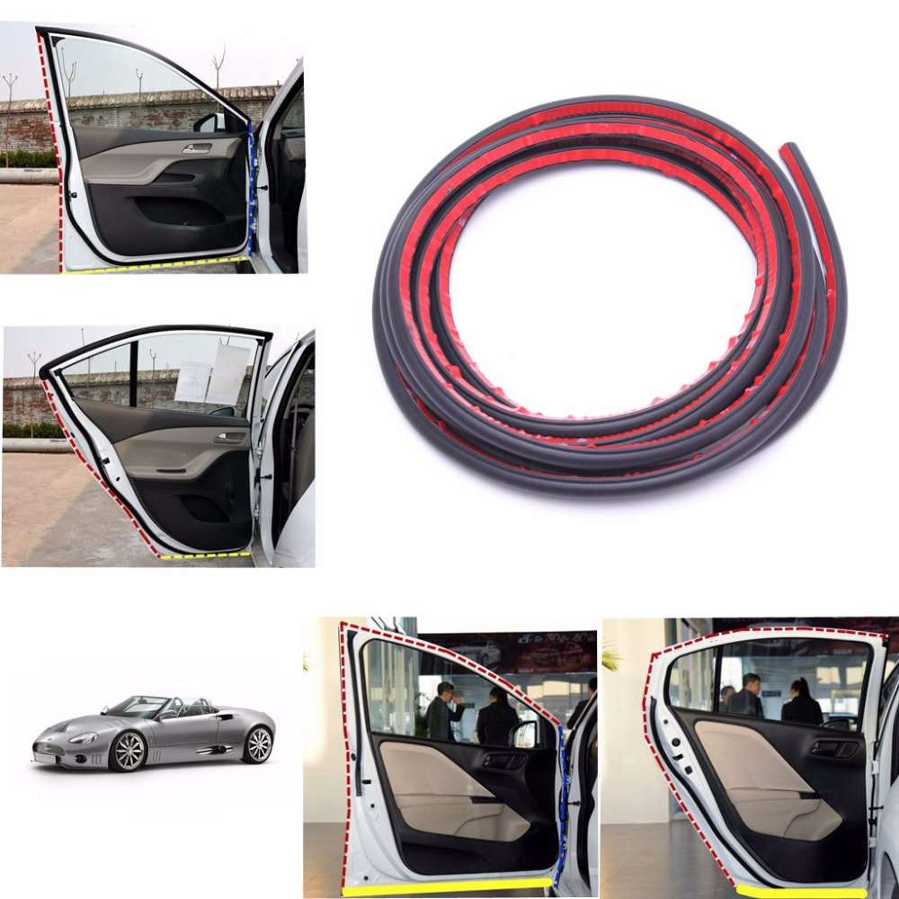 4m Small D Car Door Rubber Weather Seal Strip Epdm Noise Insulation Weatherstrip New Drop Shipping Iny