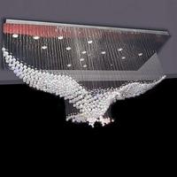 Free Shipping Eagle Design Modern Crystal Chandelier Light Large LED lustres de cristal L100*W50*H80cm Living Room Lighting