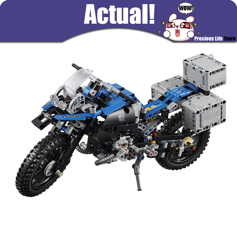 Off Road Motorcycle R 1200 GS Lepin Technic Technical 20032 Building Blocks Compatible with 42063 DIY Model Toys For Children decoo 3369 technic series the bamw off road motorcycles r1200 gs building blocks bricks educational toys lepin 20032 b11