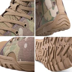 Image 2 - 무료 군인 야외 스포츠 전술 군사 남성 신발 캠핑, 하이킹 등산 신발 경량 트레킹