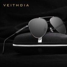 VEITHDIA ファッションブランドユニセックスデザイナーアルミサングラス偏光ミラーレンズ男性サングラス女性のための男性 6698