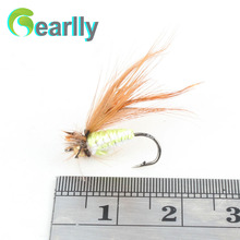 40pcs dry fly fishing lure set with box artificial trout carp bass Butterfly Insect bait freshwater saltwater flyfishing lures
