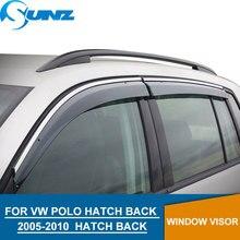 Window Visor for Volkswagen VW POLO 2005-2010 deflector rain guard Vento Ameo HATCH BACK Accessories SUNZ