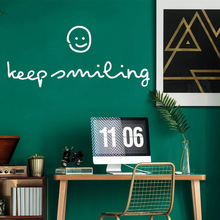 Free shipping keep smiling Wall Sticker Vinyl Art Home Decor Living Room Children Decal stickers muraux