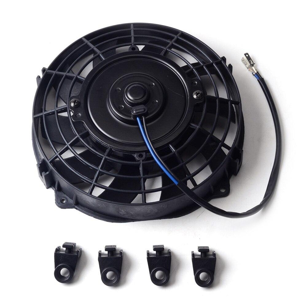 ESPEEDER 7 Inch Black 12V 80W Electric Universal Auto Cooling Radiator Fan Hot Rad Mounting KitESPEEDER 7 Inch Black 12V 80W Electric Universal Auto Cooling Radiator Fan Hot Rad Mounting Kit