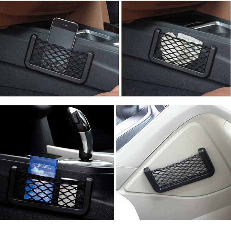 1x Автомобильный держатель для телефона на ручка для мешка для хранения Сетка для Kia Rio K2 K3 Ceed Sportage 3 sorento cerato подлокотник пиканто soul Оптима