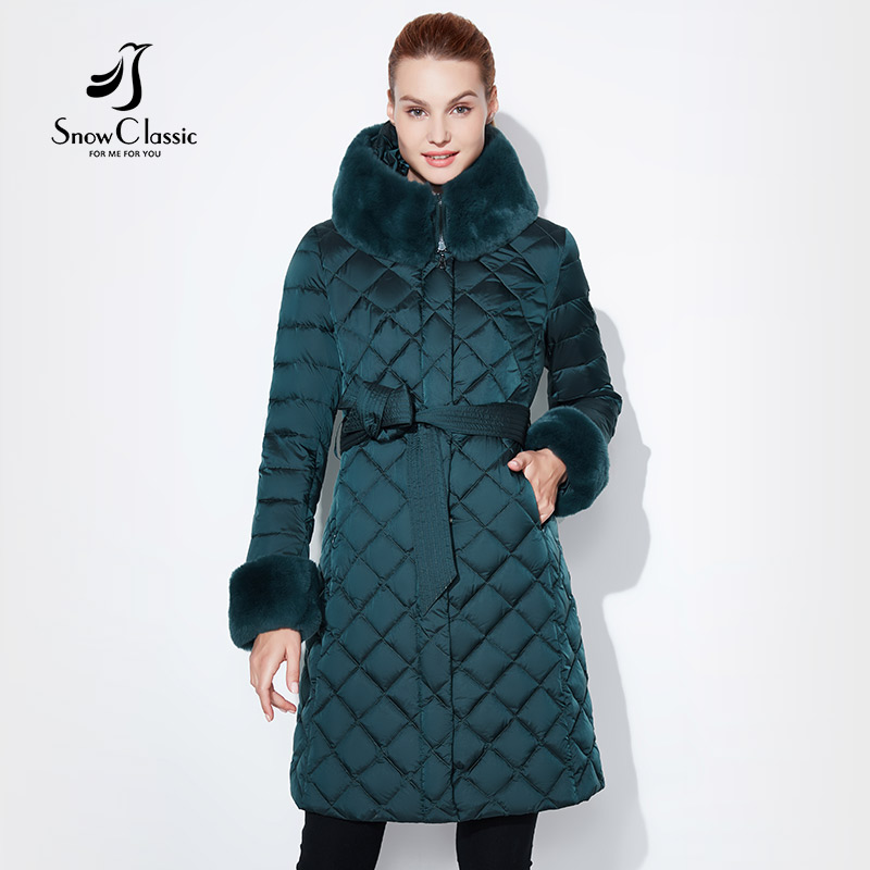 Snow Classic 2018 jacket women camperas mujer abrigo invierno coat women park plus size Fur collar