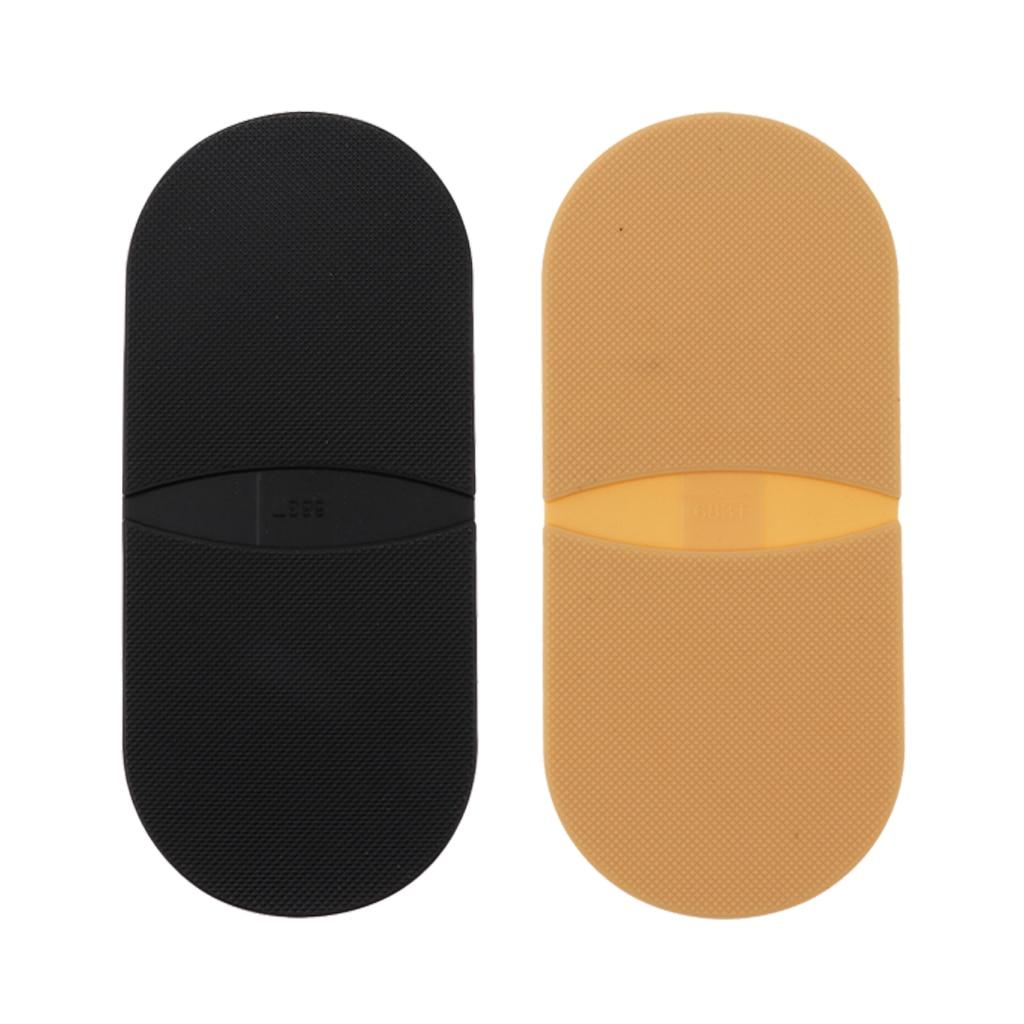 2 pares de pegamento de goma en los talones insertos de zapatos agarre Zapata Kit de reparación de suela 3mm piel y negro para calzado al aire libre Máquina de grabado de modelos de enrutador de madera multifunción de aluminio Placa de inserción