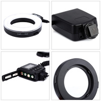 High Quality Ring Flash Macro LED Ring Flash with LCD Display Power Control for Camera SLR Cameras