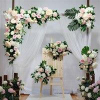 Customizable European Style DIY Wedding Stage Decor Artificial Flower Wall Arch Silk Rose Peony Plant Mix Design Decor Flower wa