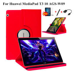 Fall für Huawei MediaPad T3 10 AGS-W09 AGS-L09 AGS-L03 9,6 Abdeckung Funda 360 rotierenden Stand Shell für Honor Spielen Pad 2 9,6 ''+ Film