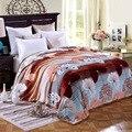 Furão Cashmere Cobertores Grossos Cobertores de Lã Quentes Camas Throw Blanket Sofá Tecidos Macios Cobertores de Lã Polar