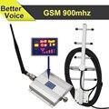 Pantalla LED móvil de Señal Booster GSM 900 mhz Ganancia 65dB GSM 900 Repetidor Móvil Celular Amplificador + Antena Yagi Cable