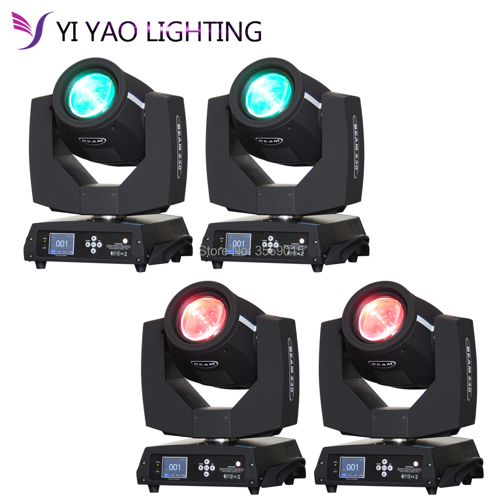 4pcs/lot 200w sharpy moving head beam Disco Lights for Club Night club Party dj Wedding|Stage Lighting Effect| |  - title=