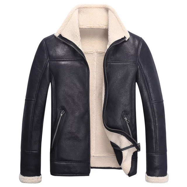 High Quality Mens Short Biker Leather Coats Hot Fashion Lambskin Youth Jacket Outwear Men's Suede Coats China Online Store C357