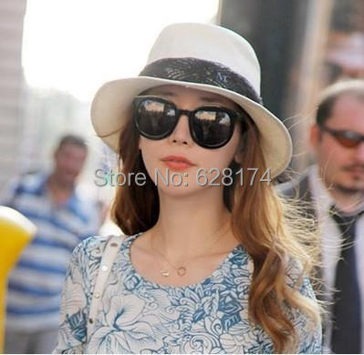 Envío libre de lunares rústico strawhat del sol-shading sol sombrero femenino del verano sombrero de playa