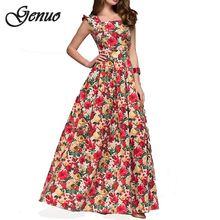 New Women printing party dress 2019 Popular sleeveless square collar sexy long vestidos Elegant spring summer