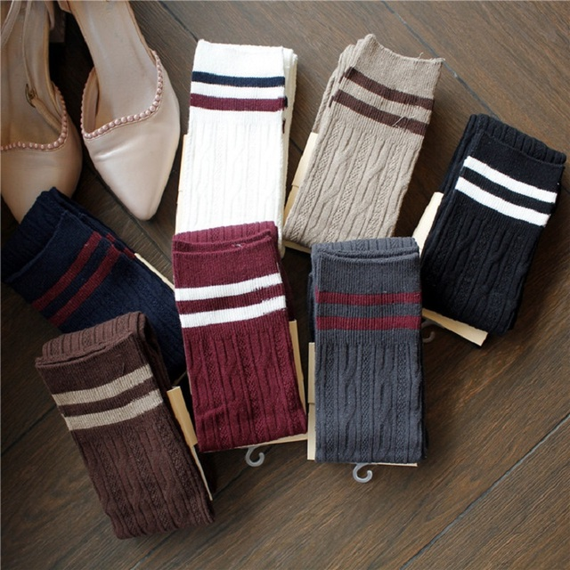 1 par de fútbol chica larga Stock mujeres voleibol medias cómodo algodón calcetines deportivos enviar en color al azar