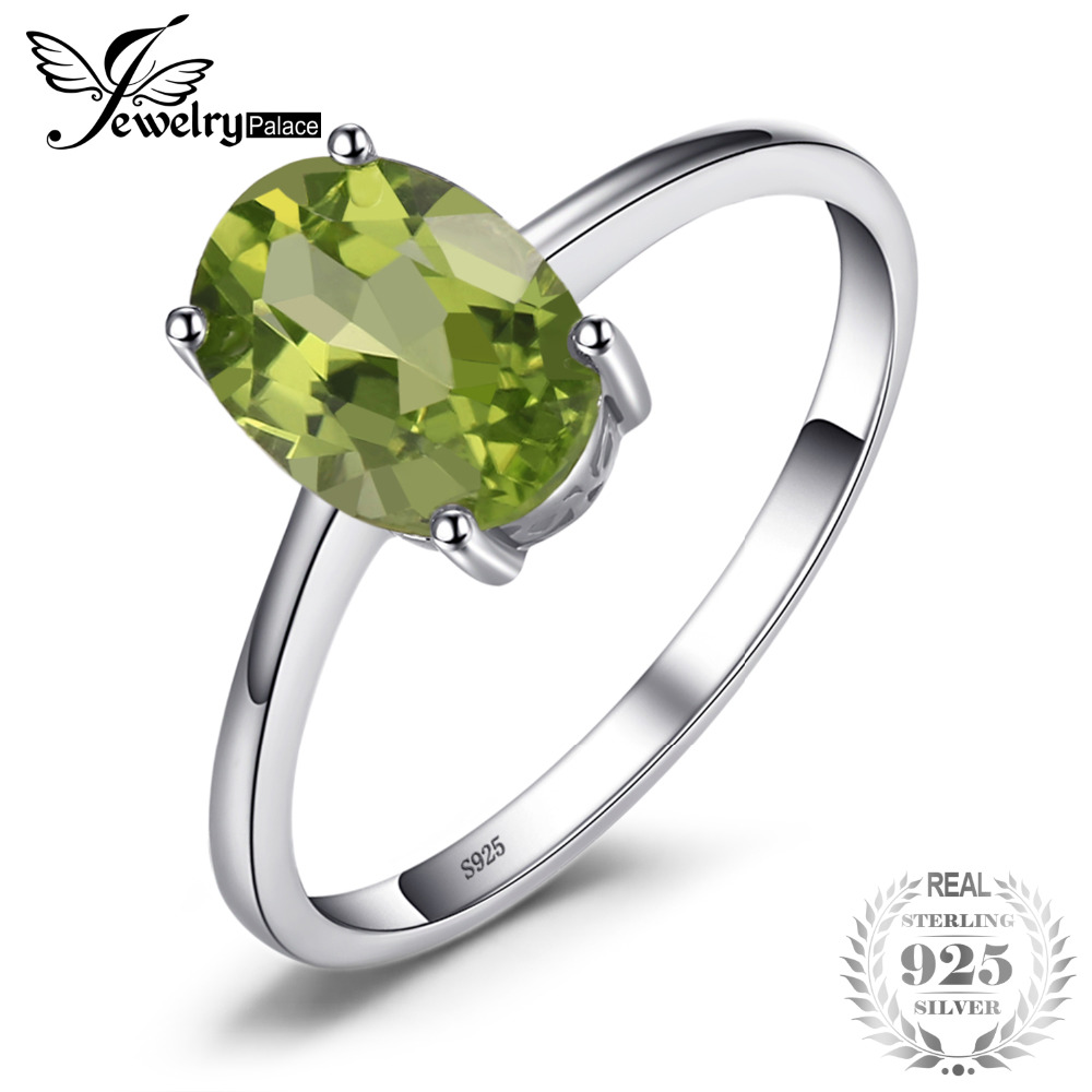 JewelryPalace Genuine 925 Sterling Silver 1.4ct Natural Peridot Solitaire Rings For Women Love Gift Classic Oval Fine JewelryJewelryPalace Genuine 925 Sterling Silver 1.4ct Natural Peridot Solitaire Rings For Women Love Gift Classic Oval Fine Jewelry
