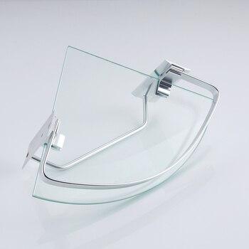 Portasciugamani In Vetro | KES A4123A Bagno Di Alluminio Angolo Di Vetro Mensola Con Towel Bar Montaggio A Parete, Argento Sabbia Spruzzato